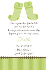 Convite digital personalizado para Chá de Bebê 003