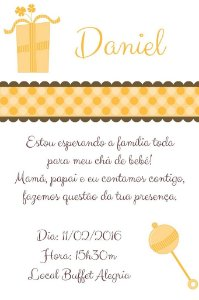 Convite digital personalizado para Chá de Bebê 004