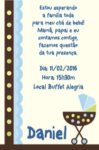 Convite digital personalizado para Chá de Bebê 011