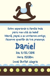 Convite digital personalizado para Chá de Bebê 012