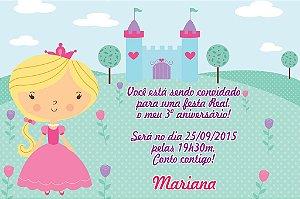 Convite digital personalizado Princesa 001