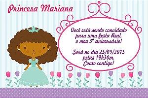 Convite digital personalizado Princesa 002