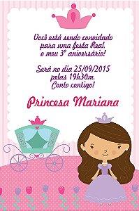Convite digital personalizado Princesa 003