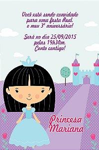 Convite digital personalizado Princesa 004