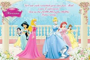 Convite digital personalizado Princesas Disney 001