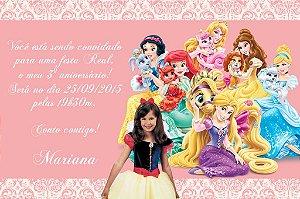 Convite digital personalizado Princesas Disney com foto 002