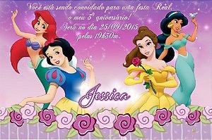 Convite digital personalizado Princesas Disney 003