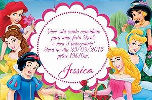 Convite digital personalizado Princesas Disney 004