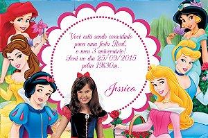 Convite digital personalizado Princesas Disney com foto 004