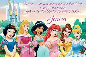 Convite digital personalizado Princesas Disney 005