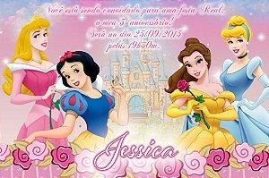 Convite digital personalizado Princesas Disney 006