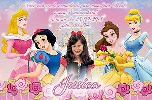 Convite digital personalizado Princesas Disney com foto 006
