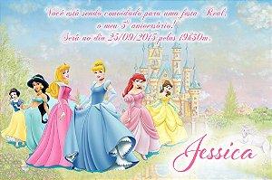 Convite digital personalizado Princesas Disney 008