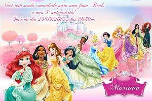 Convite digital personalizado Princesas Disney 009