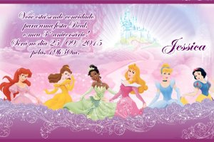 Convite digital personalizado Princesas Disney 013