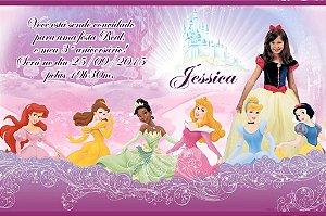 Convite digital personalizado Princesas Disney com foto 013