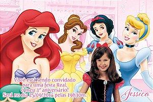 Convite digital personalizado Princesas Disney com foto 016