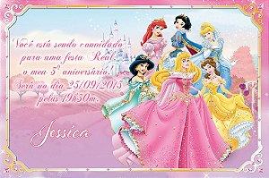 Convite digital personalizado Princesas Disney 017