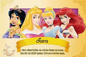 Convite digital personalizado Princesas Disney 018