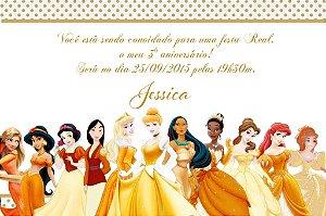 Convite digital personalizado Princesas Disney 019