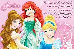 Convite digital personalizado Princesas Disney 020