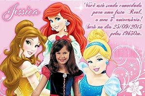 Convite digital personalizado Princesas Disney com foto 020