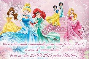 Convite digital personalizado Princesas Disney 022