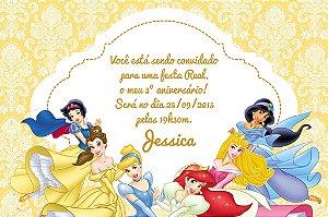 Convite digital personalizado Princesas Disney 023