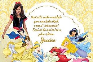 Convite digital personalizado Princesas Disney com foto 023