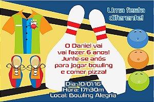 Convite digital personalizado Bowling 002