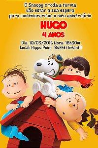 Convite digital personalizado Snoopy e Charlie Brown 004