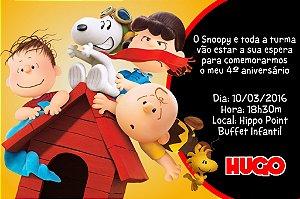 Convite digital personalizado Snoopy e Charlie Brown 006