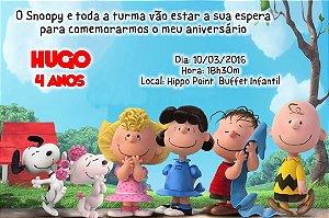 Convite digital personalizado Snoopy e Charlie Brown 008