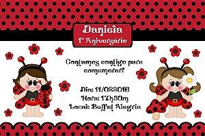 Convite digital personalizado Joaninha 002