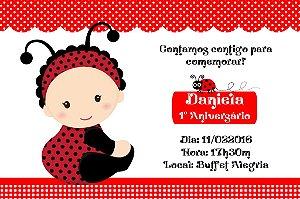 Convite digital personalizado Joaninha 003