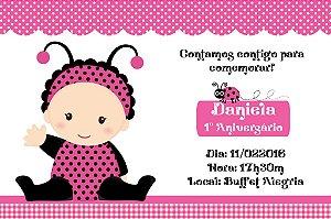 Convite digital personalizado Joaninha 007