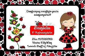 Convite digital personalizado Joaninha 008