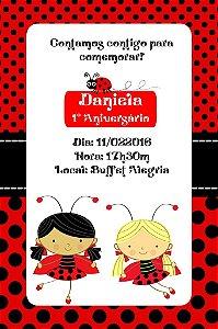 Convite digital personalizado Joaninha 010