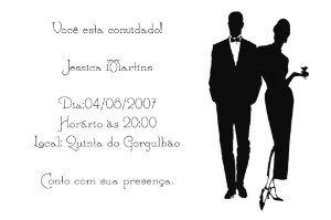 Convite digital personalizado preto e branco 002