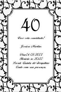 Convite digital personalizado preto e branco 003
