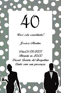 Convite digital personalizado preto e branco 004