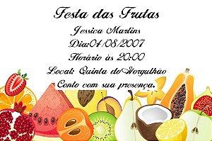 Convite digital personalizado com frutas 001