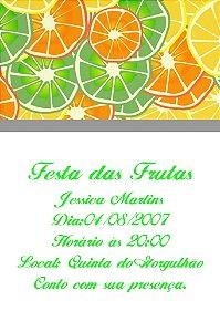 Convite digital personalizado com frutas 002