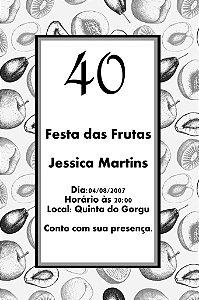 Convite digital personalizado com frutas 003