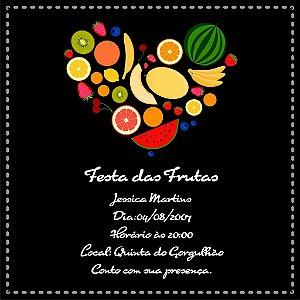Convite digital personalizado com frutas 004