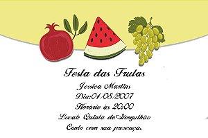 Convite digital personalizado com frutas 005