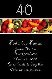 Convite digital personalizado com frutas 006
