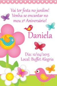 Convite digital personalizado Jardim Encantado 002