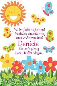 Convite digital personalizado Jardim Encantado 003