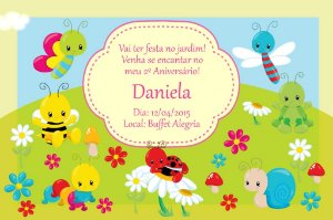 Convite digital personalizado Jardim Encantado 005